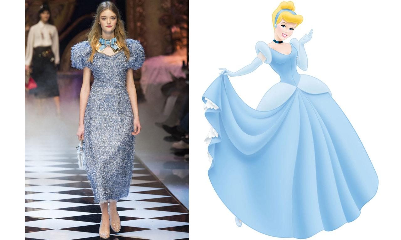 <p>The most on-the-nose copy of a Disney movie dress. Give this girl a pumpkin, turn it into an Uber, and call it a day.</p>