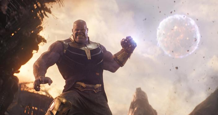 Thanos (Josh Brolin) prepares to bring on the Snapture in <em>Avengers: Infinity War.</em> (Photo: Walt Disney Studios Motion Pictures/Courtesy Everett Collection)