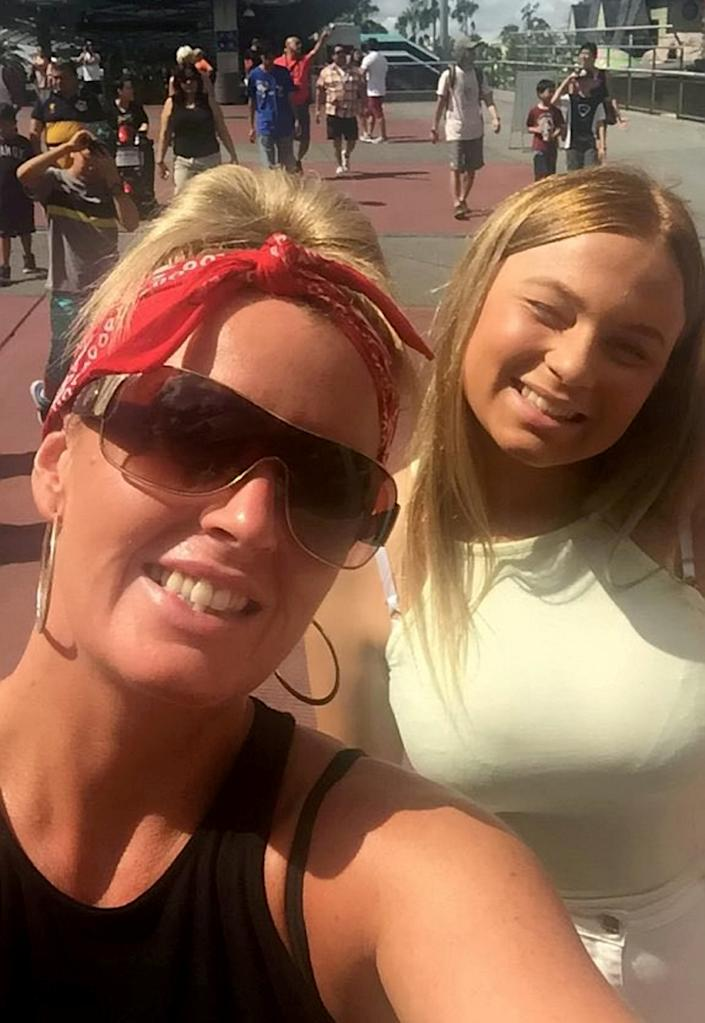 Stacey Baigan (left), who is six months pregnant, said mental health had become another pandemic in the course of lockdowns, and many young people were feeling isolated like her daughter Leonie (right). (SWNS)