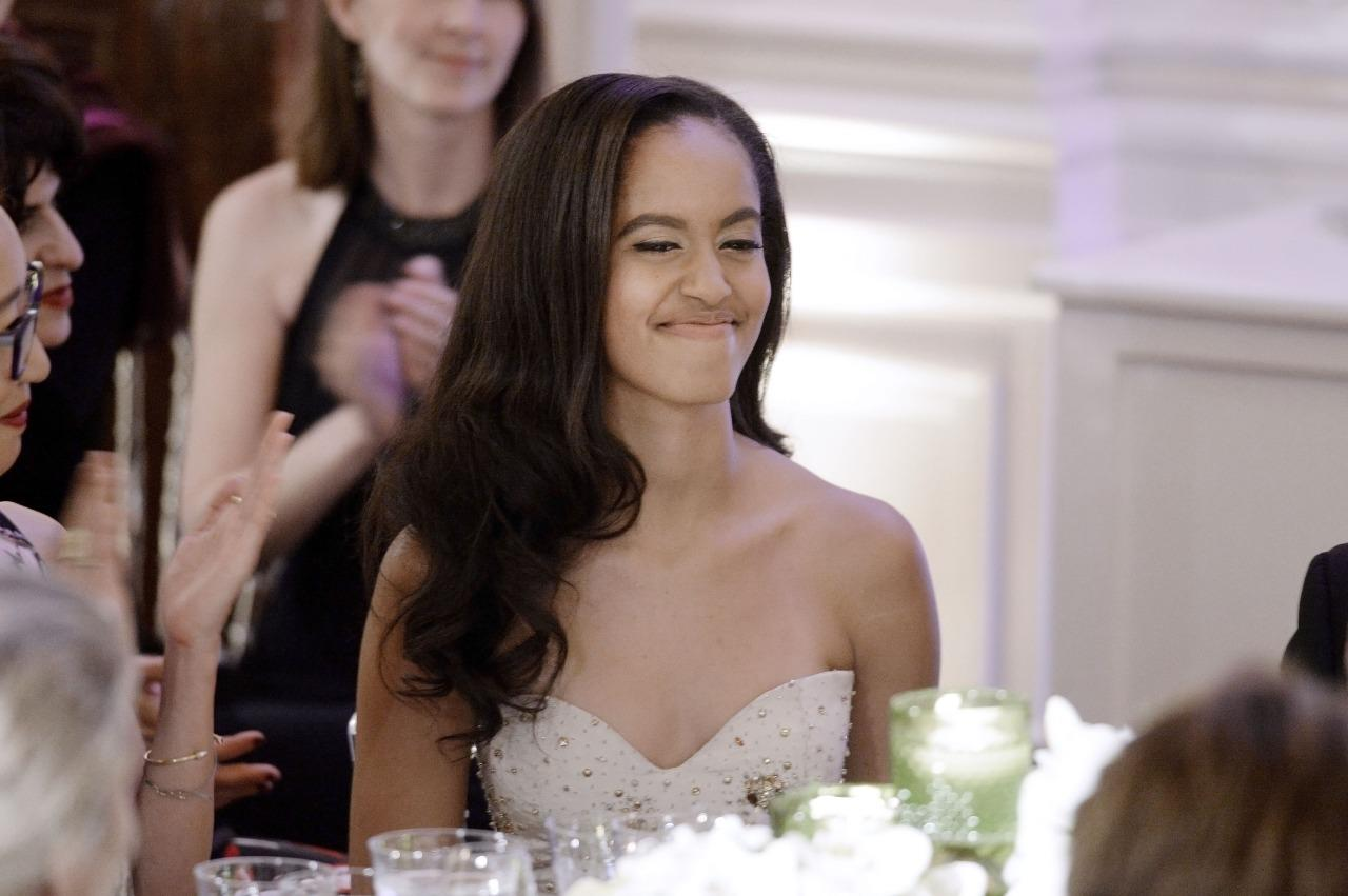 "<p>The 17-year-old attended her very first state dinner — and her dear old dad got really emotional about it. ""When I first elected to this office, Malia was just 10 and Sasha was 7. And they grow up too fast,"" the president said during his opening remarks. ""Now Malia is going off to college … and I'm starting to choke up."" (<i>Photo: Getty Images)</i></p>"