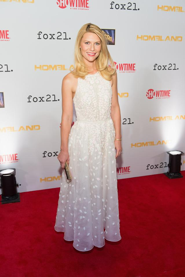 "WASHINGTON, DC - SEPTEMBER 09: Claire Danes attends a premiere screening hosted by SHOWTIME and Fox 21 for Season 3 of the hit series ""Homeland"" at Corcoran Gallery of Art on September 9, 2013 in Washington City. (Photo by Daniel Boczarski/Getty Images for Showtime)"