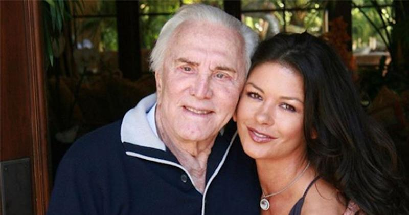 Catherine Zeta-Jones shares rare photo of Kirk Douglas on 103rd birthday