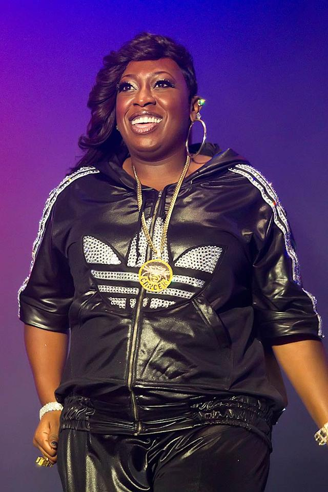 """Rapper Missy Elliott turns 40 <a href=""""http://www.gettyimages.com/"""" target=""""new"""">GettyImages.com</a> - July 24, 2010"""