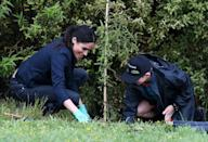 <p>Meghan got her hands gardening gloves muddy as she helped a young conservationist plant a tree in Auckland, New Zealand.</p>