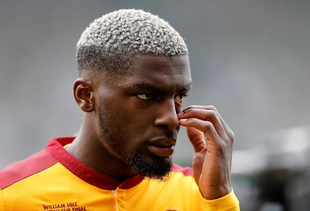 Soccer Football - Scottish Cup Final - Celtic vs Motherwell - Hampden Park, Glasgow, Britain - May 19, 2018 Motherwell's Cedric Kipre looks dejected after the match REUTERS/Russell Cheyne