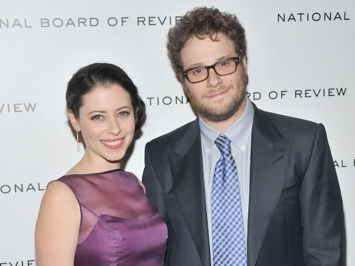 Actor Seth Rogen and Lauren Miller attend the 2011 National Board of Review Awards gala at Cipriani 42nd Street on January 10, 2012 in New York City.