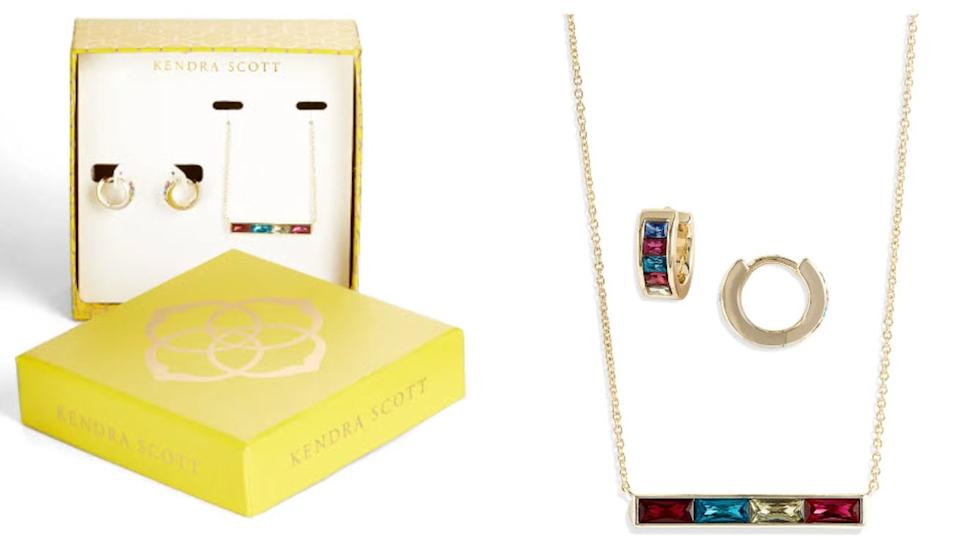 Kendra Scott's Three-Piece Necklace & Earrings Set - Nordstrom, $35 (originally $88)