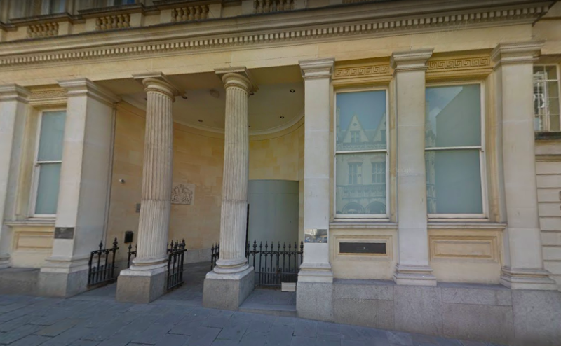 Perry was jailed for three years at Bristol Crown Court, pictured, and handed him a restraining order to have no contact with Miss Wibberley. (Google Maps)