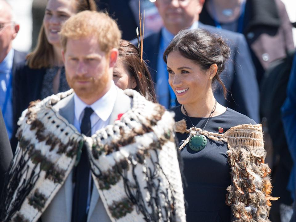 The Duke and Duchess of Sussex during the royal couple's tour of New Zealand (Dominic Lipinski/PA) (PA Archive)