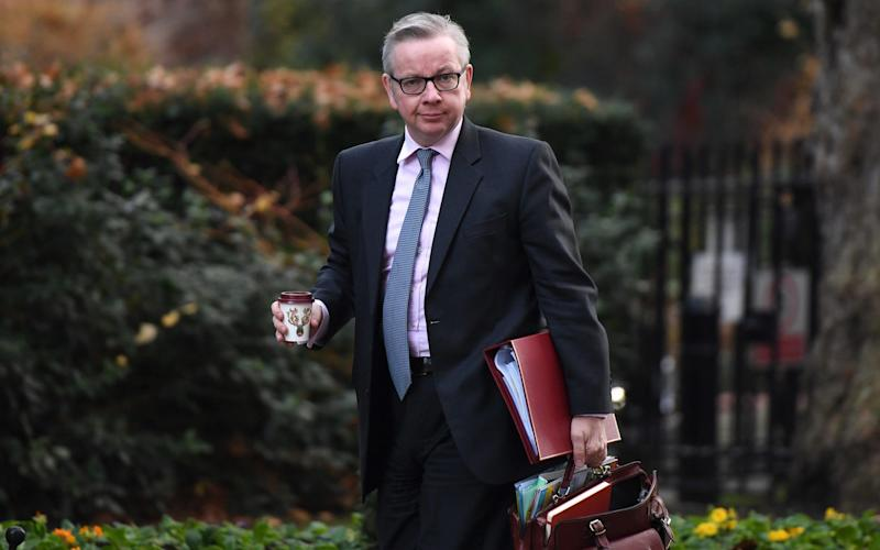 Michael Gove arrives at Downing Street for Cabinet meeting - Bloomberg