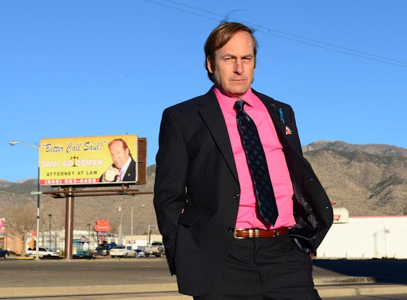 "This image released by AMC shows Bob Odenkirk in a scene from the final season of ""Breaking Bad."" AMC and Sony Pictures Television on Wednesday, Sept. 11, confirmed that Odenkirk, who plays Saul Goodman, will star in a one-hour prequel tentatively titled ""Better Call Saul."" Breaking Bad"" concludes its much-acclaimed five-season run on Sept. 29. (AP Photo/AMC, Ursula Coyote)"