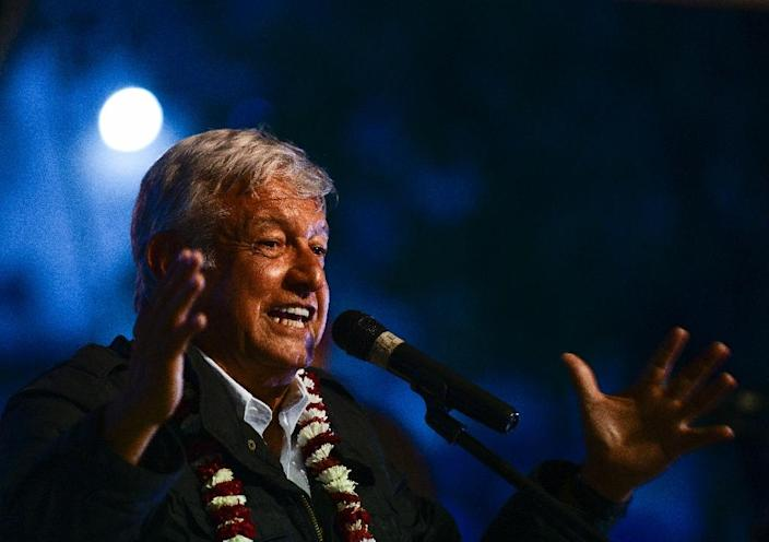 Mexican President-elect Andres Manuel Lopez Obrador will take office on December 1 -- the US and Mexico have already reached a trade deal (AFP Photo/RONALDO SCHEMIDT)