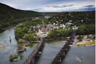"""<p>This <a href=""""https://www.tripadvisor.com/Tourism-g60722-Harpers_Ferry_West_Virginia-Vacations.html"""" rel=""""nofollow noopener"""" target=""""_blank"""" data-ylk=""""slk:tiny town"""" class=""""link rapid-noclick-resp"""">tiny town</a> is located on the Shannendoah River and the ideal getaway for nature lovers. There are eight (yes, eight) national parks and heritage sites to visit in the area. </p>"""