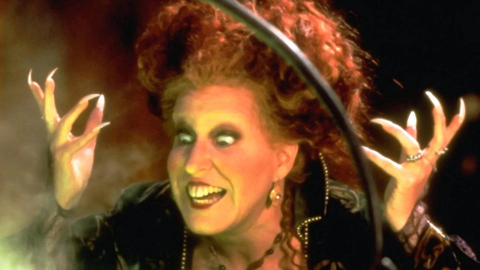 Bette Midler as the witch Winnie Sanderson in 'Hocus Pocus'. (Credit: Buena Vista Pictures)