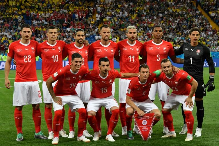 Four of Switzerland's starting lineup in the match against Brazil were either born in Kosovo or Macedonia