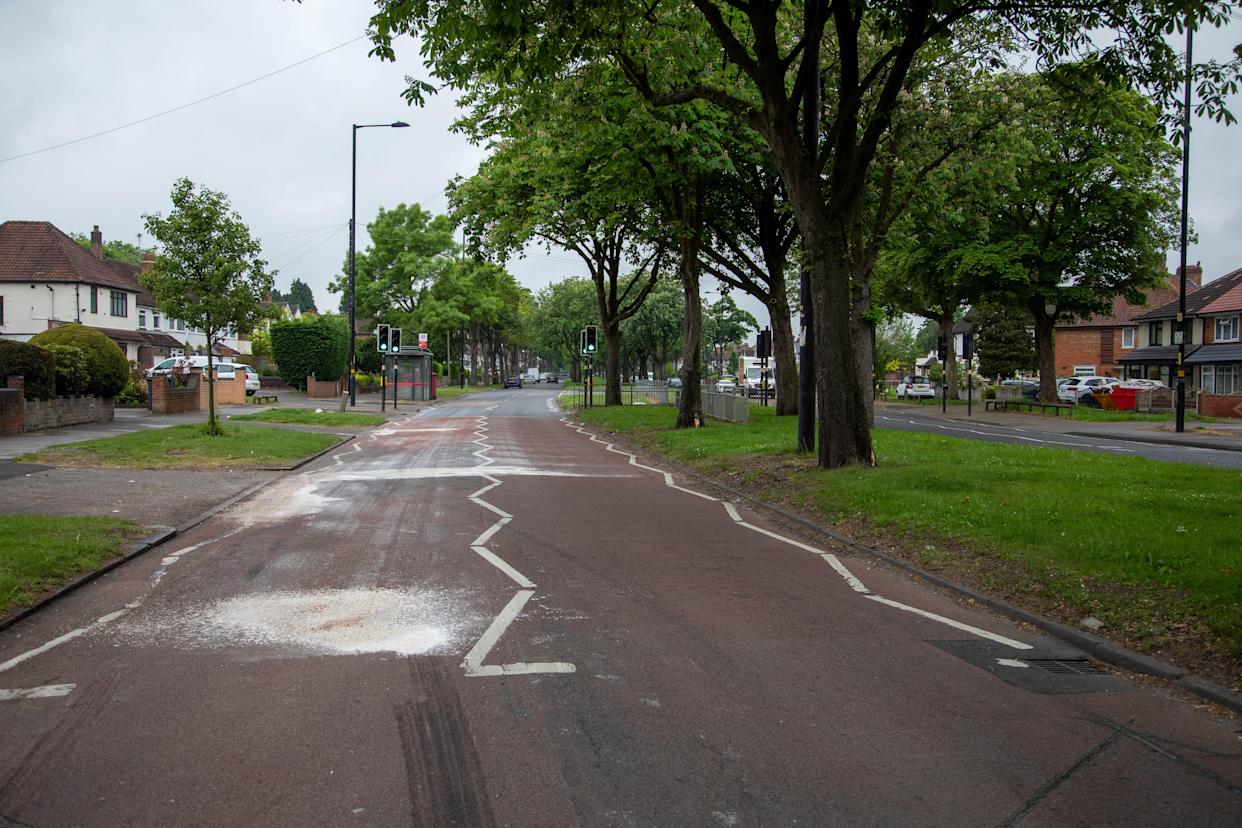 The couple died after an incident on Fox Hollies Road in Acocks Green, Birmingham on Saturday, 5 June. (SWNS)
