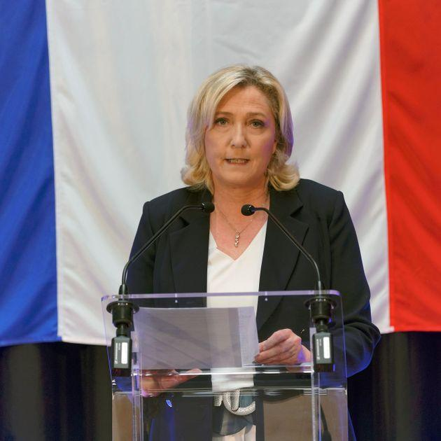 HENIN-BEAUMONT, FRANCE - JUNE 20: French far-right National Rally leader Marine Le Pen delivers speech during electoral night for France Regional elections first round on June 20, 2021 in Henin-Beaumont, France. (Photo by Sylvain Lefevre/Getty Images) (Photo: Sylvain Lefevre via Getty Images)