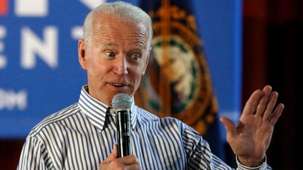 PHOTO: Former vice president and Democratic presidential candidate Joe Biden speaks during a campaign event in Berlin, N.H., June 4, 2019. (Elise Amendola/AP)