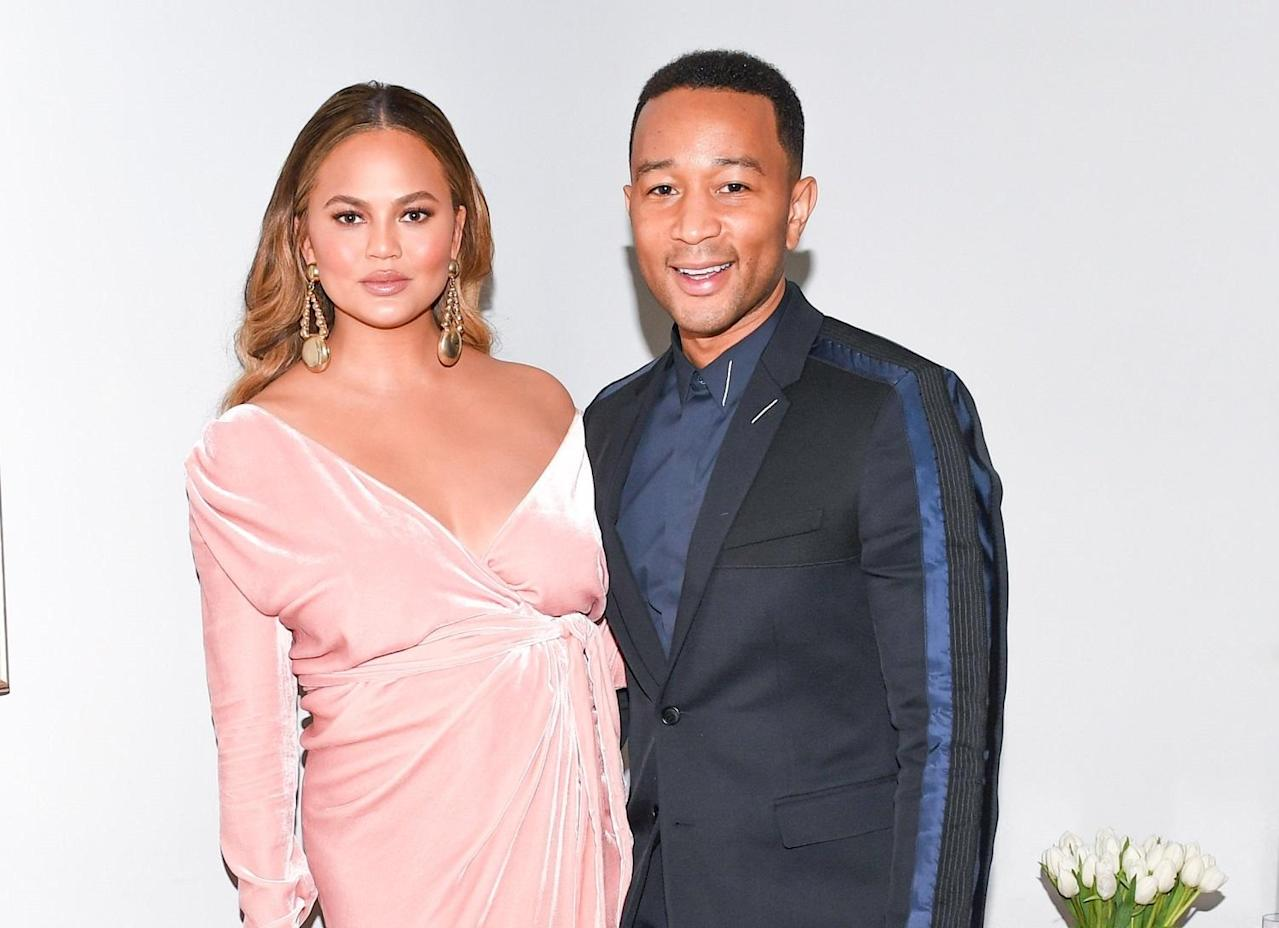 Chrissy Teigen and John Legend respond to 'sick' claims they are part of a celebrity paedophile ring
