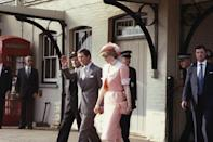 <p>Diana's official life begins. Here, the newlyweds head off to their honeymoon to Gibraltar on the Royal Yacht <u>Brittania.</u></p>