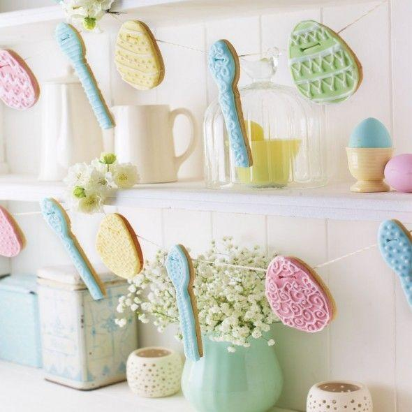 """<p>These sweet biscuits look so pretty iced and hung up like bunting.</p><p><strong>Recipe: <a href=""""https://www.goodhousekeeping.com/uk/easter/easter-recipes/a559687/egg-and-spoon-biscuit-bunting/"""" rel=""""nofollow noopener"""" target=""""_blank"""" data-ylk=""""slk:Egg and spoon biscuit bunting"""" class=""""link rapid-noclick-resp"""">Egg and spoon biscuit bunting</a></strong></p>"""
