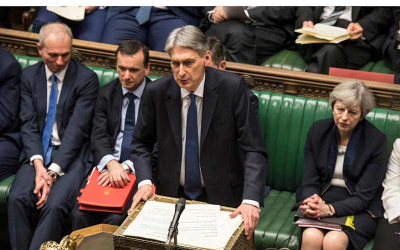 Chancellor of the Exchequer Philip Hammond making his Budget statement to MPs in the House of Commons. - PA/PA