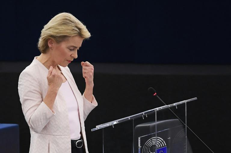 "Von der Leyen said ""the task ahead of us humbles me. It's a big responsibility and my work starts now"""