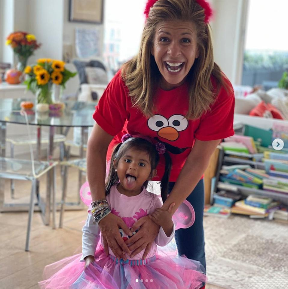 Kotb went as Elmo and her 2-year-old Haley Joy donned an adorable Abby Cadabby costume, complete with a colorful skirt and pink wings.