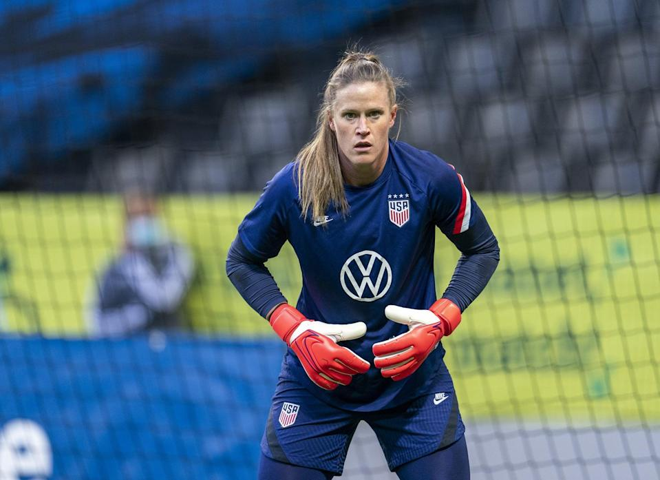 <p><strong>Position:</strong> goalkeeper</p> <p><strong>Hometown:</strong> Stratford, CT</p> <p><strong>Club:</strong> Chicago Red Stars</p> <p><strong>Olympic appearances:</strong> Rio 2016</p> <p>Naeher is competing at the Olympics for the second time in hopes of earning her first medal. She was the starting goalkeeper for the USWNT in the 2019 World Cup. </p>