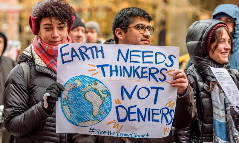 New York activist groups protest in January.