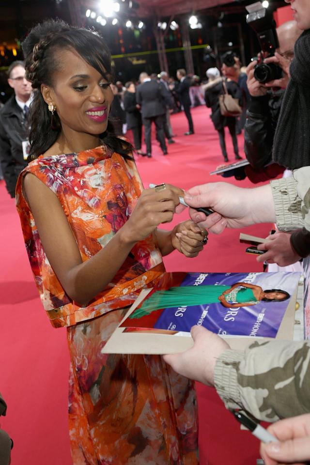 BERLIN, GERMANY - JANUARY 08: Kerry Washington attends 'Django Unchained' Berlin Premiere at Cinestar Potsdamer Platz on January 8, 2013 in Berlin, Germany. (Photo by Sean Gallup/Getty Images for Sony Pictures)