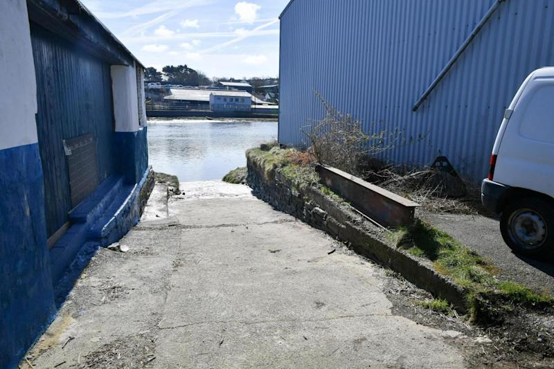 A slipway near the scene where the little girl was recovered (PA)