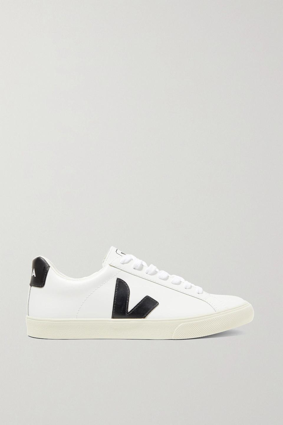 """<p><strong>Veja</strong></p><p>net-a-porter.com</p><p><strong>$120.00</strong></p><p><a href=""""https://go.redirectingat.com?id=74968X1596630&url=https%3A%2F%2Fwww.net-a-porter.com%2Fen-us%2Fshop%2Fproduct%2Fveja%2Fshoes%2Flow-top%2F-net-sustain-esplar-rubber-trimmed-leather-sneakers%2F22831760542660440&sref=https%3A%2F%2Fwww.townandcountrymag.com%2Fstyle%2Ffashion-trends%2Fg36200206%2Fsummer-shoes%2F"""" rel=""""nofollow noopener"""" target=""""_blank"""" data-ylk=""""slk:Shop Now"""" class=""""link rapid-noclick-resp"""">Shop Now</a></p><p>The Duchess of Sussex has been seen sporting these do-it-all kicks numerous times. </p><p><strong>More: </strong><a href=""""https://www.townandcountrymag.com/society/tradition/g27244254/meghan-markle-favorite-shoes/"""" rel=""""nofollow noopener"""" target=""""_blank"""" data-ylk=""""slk:Meghan Markle's Favorite Shoe Brands"""" class=""""link rapid-noclick-resp"""">Meghan Markle's Favorite Shoe Brands</a></p>"""