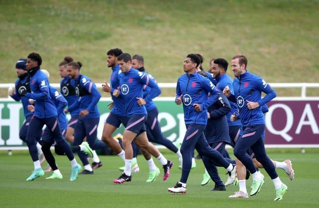 England players during a training session at St George's Park