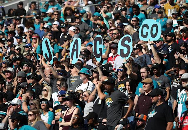 The Jaguars will be welcoming in some refugees for their first playoff game. (Getty)