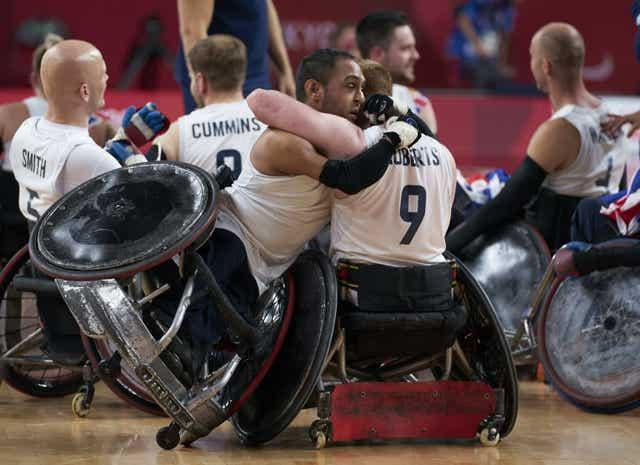ParalympicsGB mixed wheelchair rugby team wins gold in the final against USA