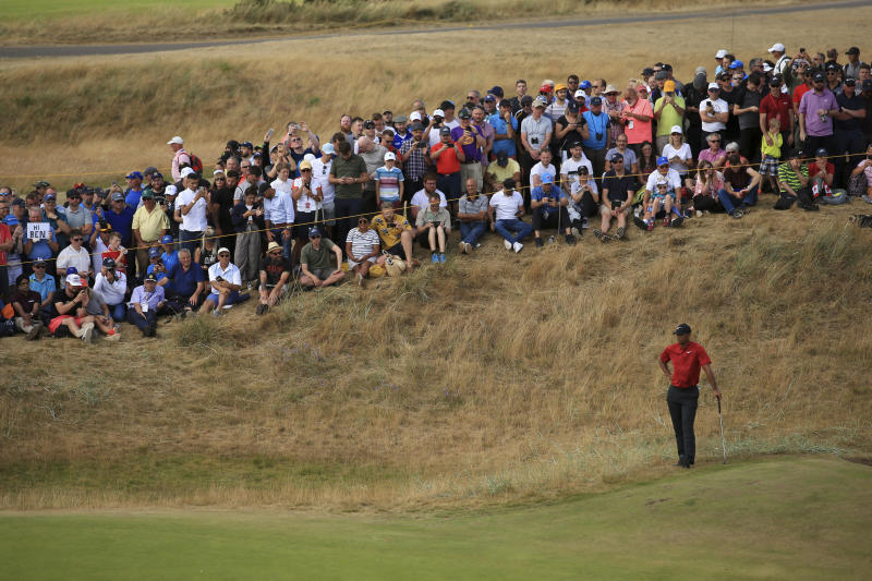 tiger woods wasn u0026 39 t happy after a fan shouted during his