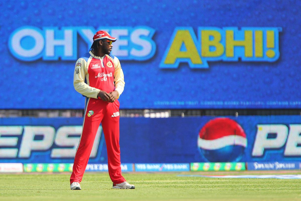 Chris Gayle during match 12 of the Pepsi Indian Premier League between The Royal Challengers Bangalore and The Kolkata Knight Riders  held at the M. Chinnaswamy Stadium, Bengaluru  on the 11th April 2013..Photo by Ron Gaunt-IPL-SPORTZPICS   ..Use of this image is subject to the terms and conditions as outlined by the BCCI. These terms can be found by following this link:..https://ec.yimg.com/ec?url=http%3a%2f%2fwww.sportzpics.co.za%2fimage%2fI0000SoRagM2cIEc&t=1498641453&sig=jJpvZz2PMO.vewDjURYang--~C