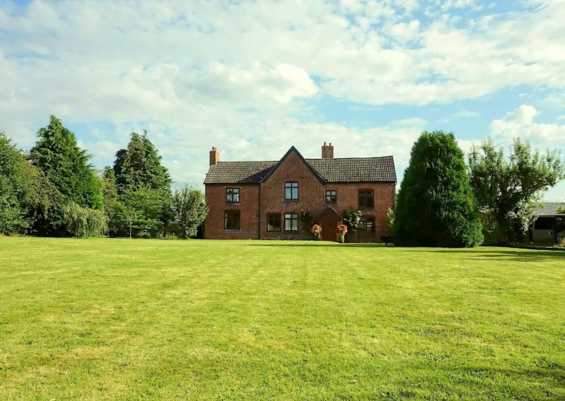 "GV of Grafton Farm, Shropshire, that has been raffled off. See SWNS story SWMDraffle. The prize draw, for Nigel and Jane Chaloner's six-bedroom home at Grafton Farm – set in approximately three acres of land in Loppington, near Wem – will be held today Thursday 14 May 2020. Mr and Mrs Chaloner are donating £120,000 from the proceeds of the draw to The Severn Hospice. The home was valued at £650,000. They sold their full allocation of tickets for the house - 550,000 at £2 each, raising £1.1m in total. Mrs Chaloner said that the family had been ""bowled over by the positive response and generosity of spirit of everyone who has entered"". (SWNS)"