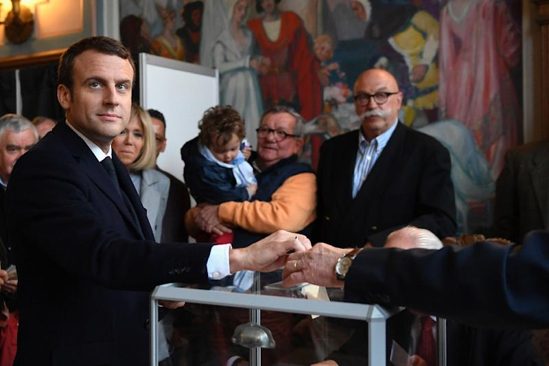 Emmanuel Macron is hoping to become his country's youngest ever president (AFP Photo/Eric FEFERBERG)