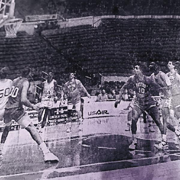 Siena played the final nine games of the 1989 basketball season in empty arenas because of a measles outbreak on campus. (Courtesy of Siena College)