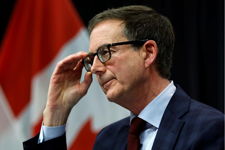 Bank of Canada Governor Tiff Macklem takes part in a news conference in Ottawa, Ontario, Canada December 15, 2020. REUTERS/Blair Gable