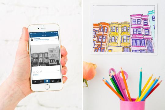 How To Make Coloring Book Pages From Your Instagrams