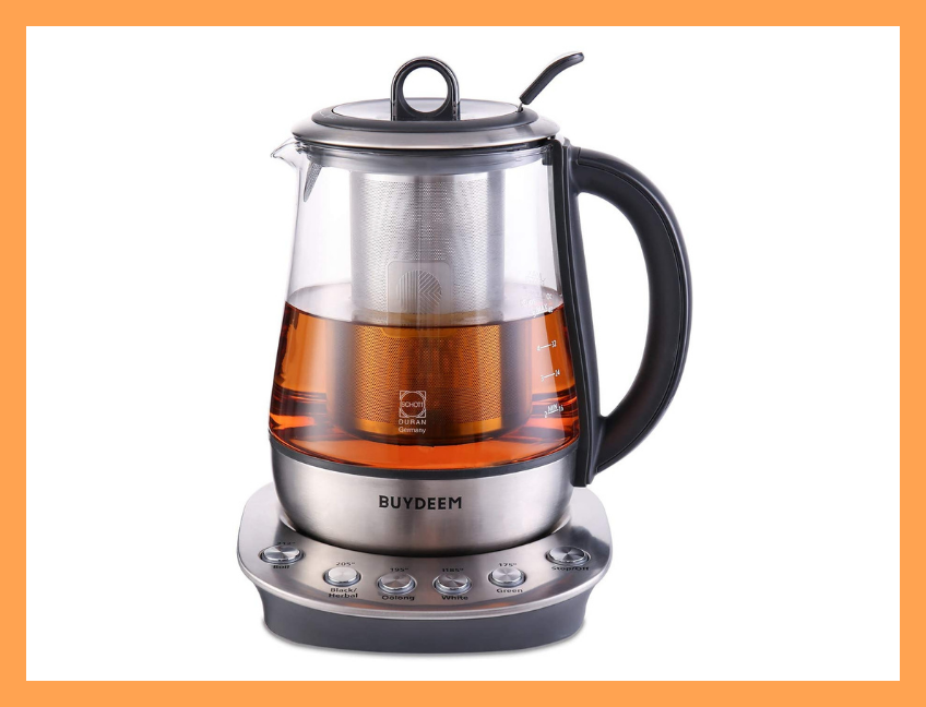 The perfect cup of tea — and the lowest-price-ever deal on this kettle — awaits. (Photo: Amazon)