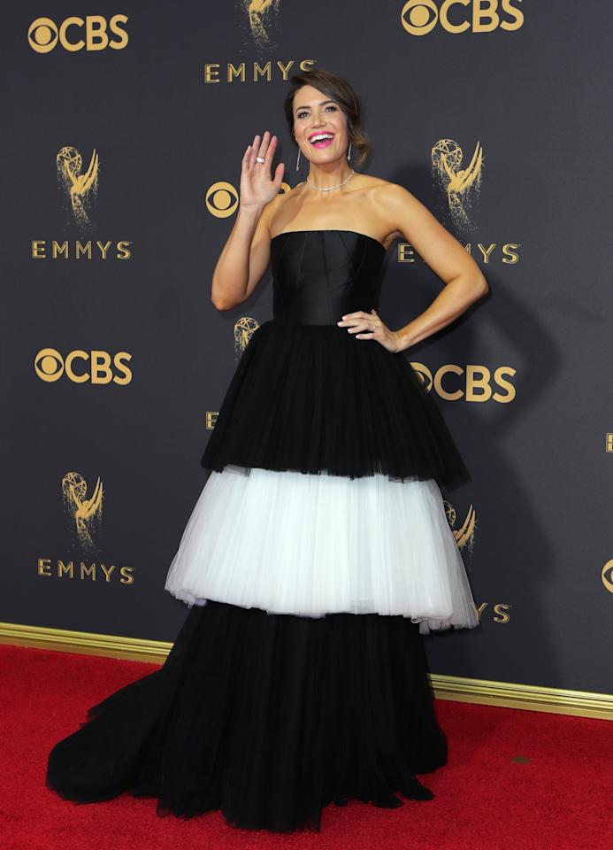 69th Primetime Emmy Awards – Arrivals – Los Angeles, California, U.S., 17/09/2017 - Actress and singer Mandy Moore. REUTERS/Mike Blake