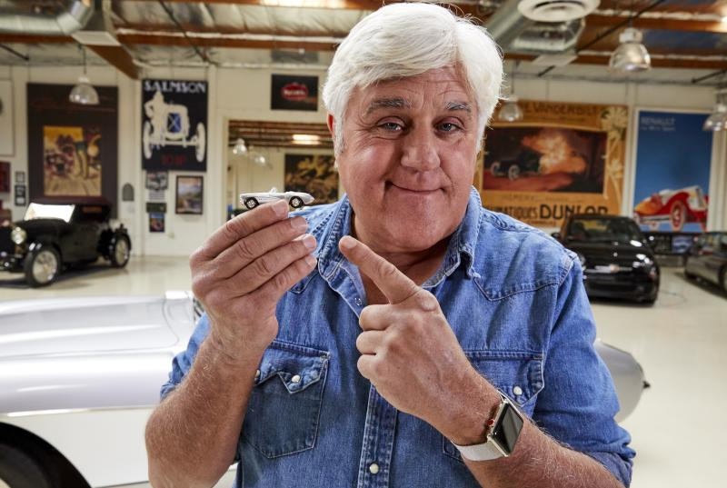 Jay Leno is a Hot Wheels fan. (Photo: Mattel)