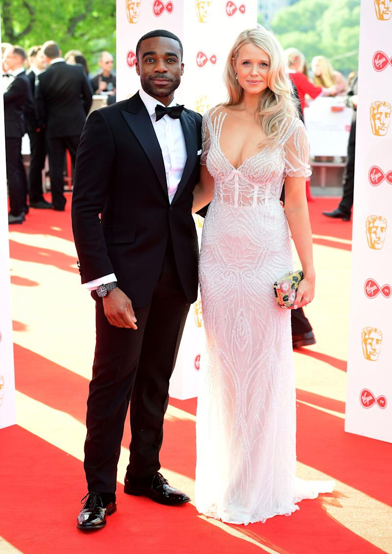 Ore Oduba and Portia Oduba attending the Virgin TV British Academy Television Awards 2018 held at the Royal Festival Hall, Southbank Centre, London.