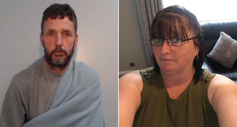 Thomas McCann, left, has been jailed for life for the murder of his wife of 24 years, Yvonne McCann, right. (Greater Manchester Police/PA)