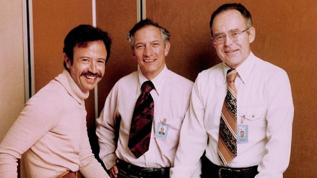 From left: Andy Grove,Bob Noyce, and Gordon Moore.