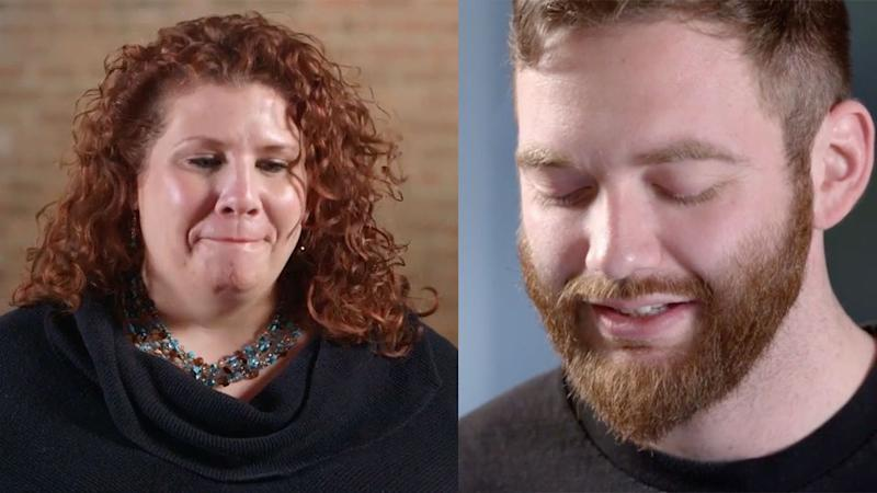 """A man reluctantly reads a tweet to Julie DiCaro saying: """"I hope you get raped again."""" Photo: YouTube/JustNotSports"""